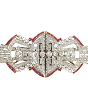 Art Deco diamond and ruby brooch from The Antique Guild(1)